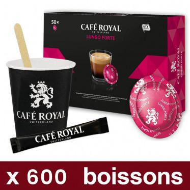 "Capsule Nespresso PRO Café Royal - Lungo Forte - Pack Pro ""Medium"" - 600 boissons"