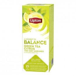 Thé Aromatisé Lipton Thé Vert Citron : 25 sachets