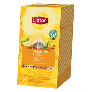 Thé Aromatisé Lipton Exclusive Selection Thé Citron pyramides : 25 sachets