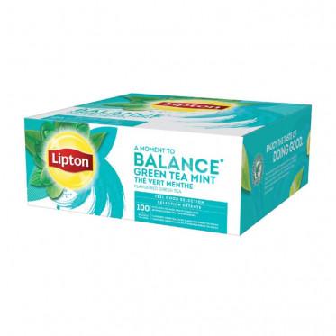Thé aromatisé Lipton Thé Vert à la Mente 100 sachets