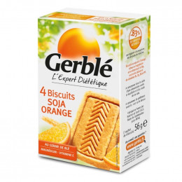Biscuits diététiques Gerblé Pocket Soja Orange - 56g