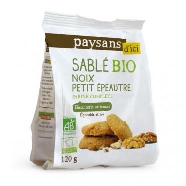 Biscuits Bio Ethiquable - Sablés noix petit épeautre - 120g
