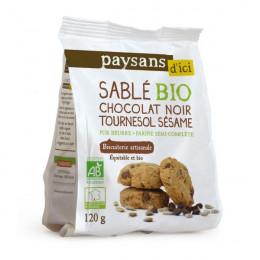 Biscuits Bio Ethiquable - Sablés Chocolat Graines de Tournesol et Sésame - 120g