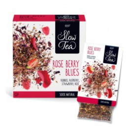 Thé Vert Rooibos Rose Berry Blues - Slow Tea - 25 sachets