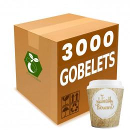 Gobelets Distributeur Automatique en Carton 15 cl - Bioware - par 2500