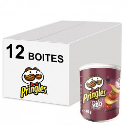 Biscuits Apéritif - Pringles Barbecue 40g - 12 boîtes