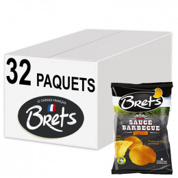 Biscuits Apéritif - Chips Bret's Nature L'Originale 30g - 32 Paquets