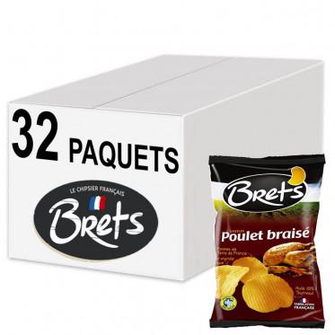 Biscuits Apéritif - Chips Bret's Nature L'Originale 30g - 32 Paquets