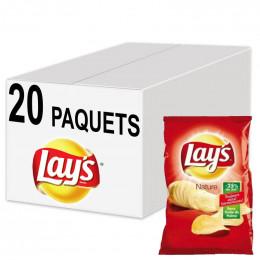 Biscuits Apéritif - Chips Lay's Nature finement salées 45g - 20 Paquets