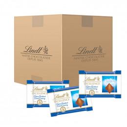 Carton Mini chocolats Lindt Excellence Lait Extra-Fondant - 1800 chocolats - 10 Kg
