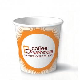 Gobelet en carton recyclable et écologique - Coffee Webstore - 10 cl par 100