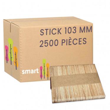 Touillette (spatule) en bois de hêtre 103 mm - par 2500
