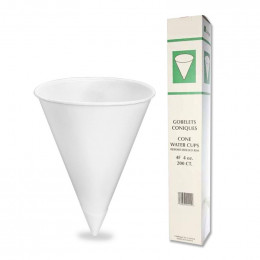 Gobelet conique en Papier 12 cl - Biodégradables & Compostables - par 200