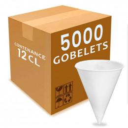 Gobelet conique en Papier 12 cl - Biodégradables & Compostables - par 200