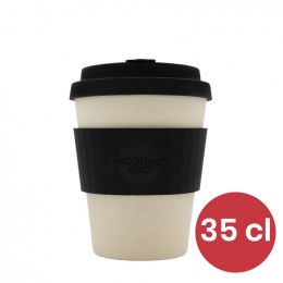 Mug en Bambou écologique, avec couvercle - Ecoffee Cup Black Nature- 35 cl