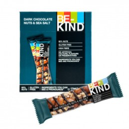 Barre de céréales : Be-Kind Dark chocolate nuts & Sea salt - x 12