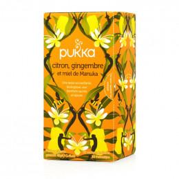 Infusion Pukka Citron, Gingembre et Miel de Manuka - Bio - 20 sachets