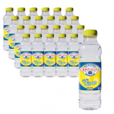 Pack bouteille d'eau 50cl Cristaline Citron x24