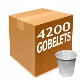 Gobelet en Gros en Plastique Blanc 10 cl - par 4200