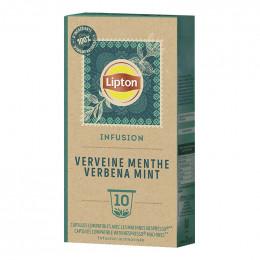 Capsule Nespresso Compatible Infusion Verveine Menthe Fraîche Lipton - 3 paquets - 30 capsules