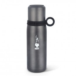 Thermos Bouteille isotherme avec couvercle tasse - Rouge - Bialetti 50 cl