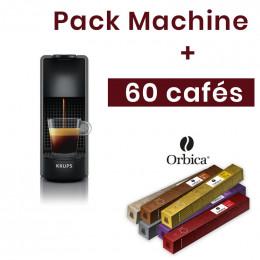 Pack Télétravail : Machine Nespresso Krups + 60 boissons offertes