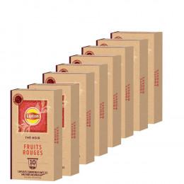 Capsule Nespresso Compatible Thé Noir Fruits Rouges Lipton - 3 paquets - 30 capsules