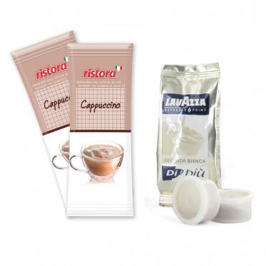 Capsule Lavazza Espresso Point Bevanda Bianca + 5 paquets Cappuccino Ristora - 50 boissons