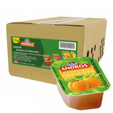 Confiture Andros - Confiture Abricot Extra - 120 x 30g