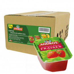 Confiture Andros - Confiture Fraise Extra - 120 x 30g