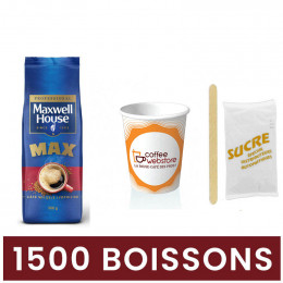 Pack Café Soluble Maxwell House Max - 1500 boissons