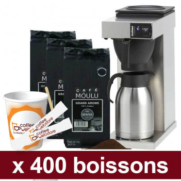 "Machine Excelso T avec Café Moulu Café de Paris : Pack Pro ""Medium"" - 800 boissons"