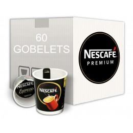 Café Gobelet Pré-Dosé Premium au carton Nescafé Espresso - 150 boissons