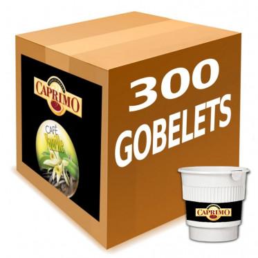 Café Gobelets Pré-Dosés au Carton Caprimo Café Vanille - par 300