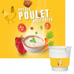 Gobelet Pré-dosé Potage gout Poulet et Pates - 20 boissons