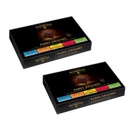 Coffret de 50 carrés de chocolat Pures Origines - Monbana