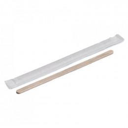Touillette (spatule) en Bois 140 mm emballage papier individuel - par 500