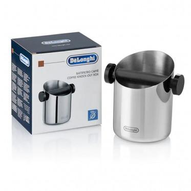 Bac à marc à café en inox, Knock Box Delonghi - DLSC059