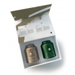 Coffrets Noël Nunshen - 2 boîtes métal de thé en vrac