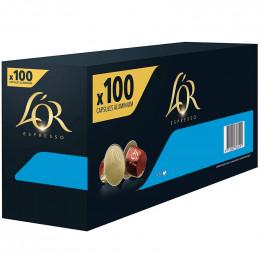 Capsule Nespresso Compatible Café L'Or Espresso Decaffeinato - 10 boîtes - 100 capsules