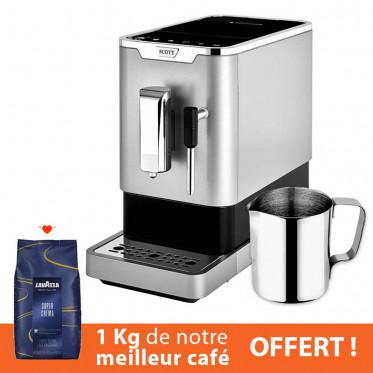 Machine à café en grains Scott Slimissimo Milk - Silver