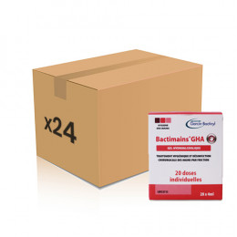 Gel hydroalcoolique Bactimains en doses individuelles EN14476 - 480 sachets