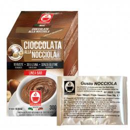 Chocolat chaud à la noisette dosette individuelle Bonini - 10 sticks