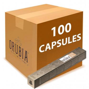 Capsules Nespresso Compatibles Orubia Cremoso - 10 tubes - 100 capsules