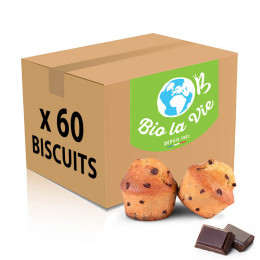 Biscuit en gros Minis Muffins Pépites de Chocolat Bio La Vie emballés individuellement - 60 muffins
