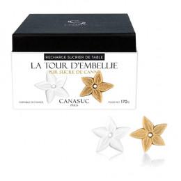 """Sucre Canasuc recharge sucrier """"La Tour d'Embellie"""" - 45 sucres"""