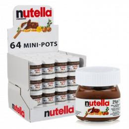 Nutella Pate à tartiner - Mini pot en verre - 64x 25g