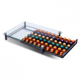 Range Dosettes pour Capsules Nespresso® Plateau en verre : 60 capsules