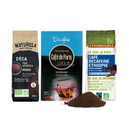 Pack Découverte Café Moulu Déca - 3 paquets - 750 gr