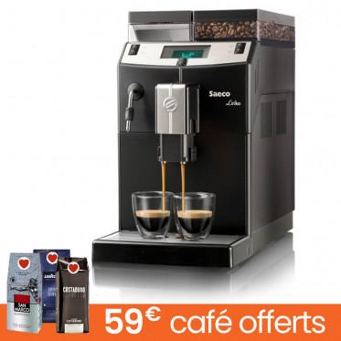 Machine à café en grains Saeco Lirika Black